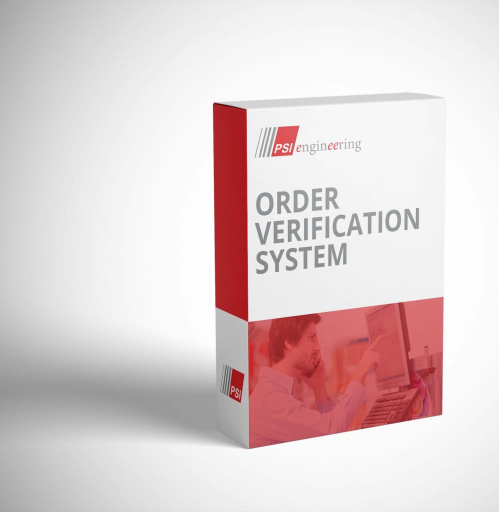 PSI Engineering Order Verification System Automation Software package